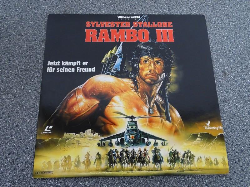 RAMBO 3 III Laserdisc LD Deutsch  Top Zustand