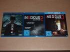 Insidious 1-3 (1,2,3) komplette Reihe, Blu Ray, Top