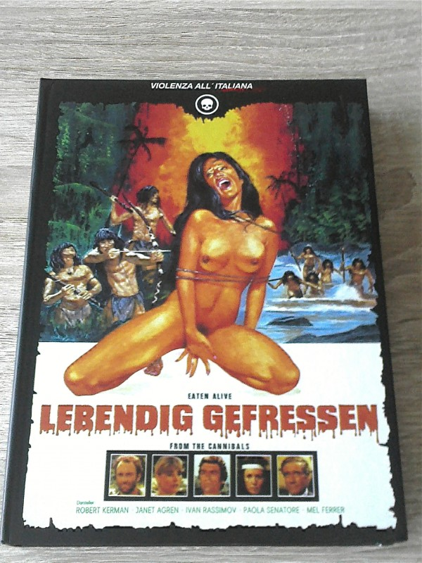 LEBENDIG GEFRESSEN - LIM.4 DISC MEDIABOOK CINESTRANGE  UNCUT