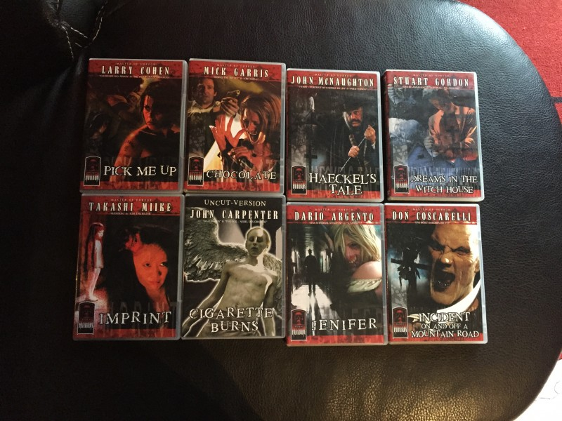 MASTERS OF HORROR SAMMLUNG DVD/ BLU RAY CARPENTER ARGENTO ..