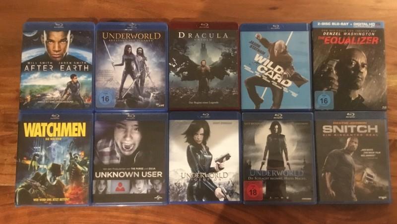 Blu Ray Filmsammlung