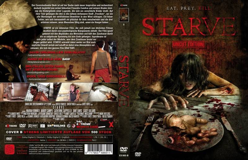 STARVE Mediabook Lim. Ed. Cover B 500 Stück OOP