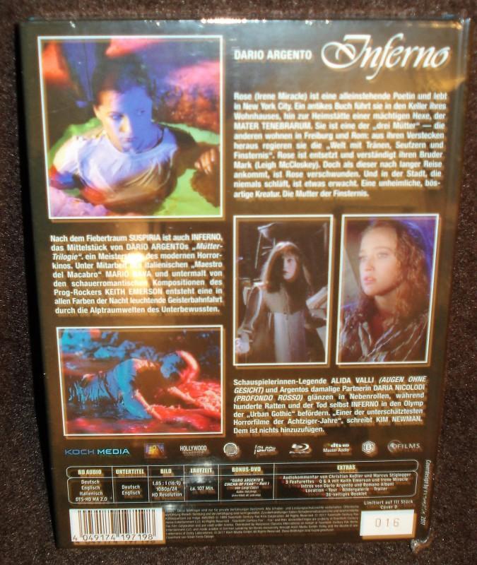 INFERNO lim. 111 8-films Gold Mediabook D (NEU/OVP) Argento