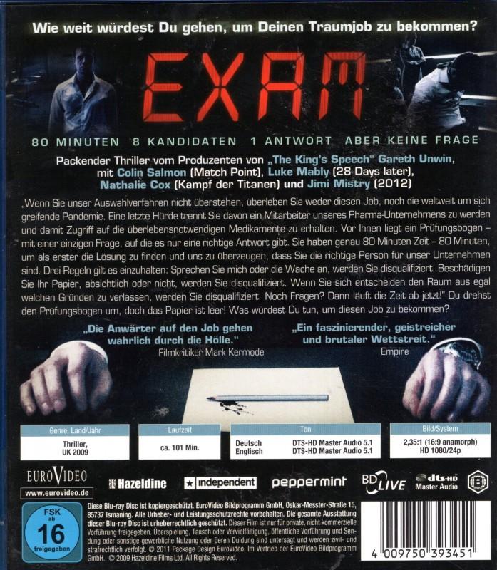 Exam Tödliche Prüfung Blu Ray Top Briten Thriller Kaufen Filmundo