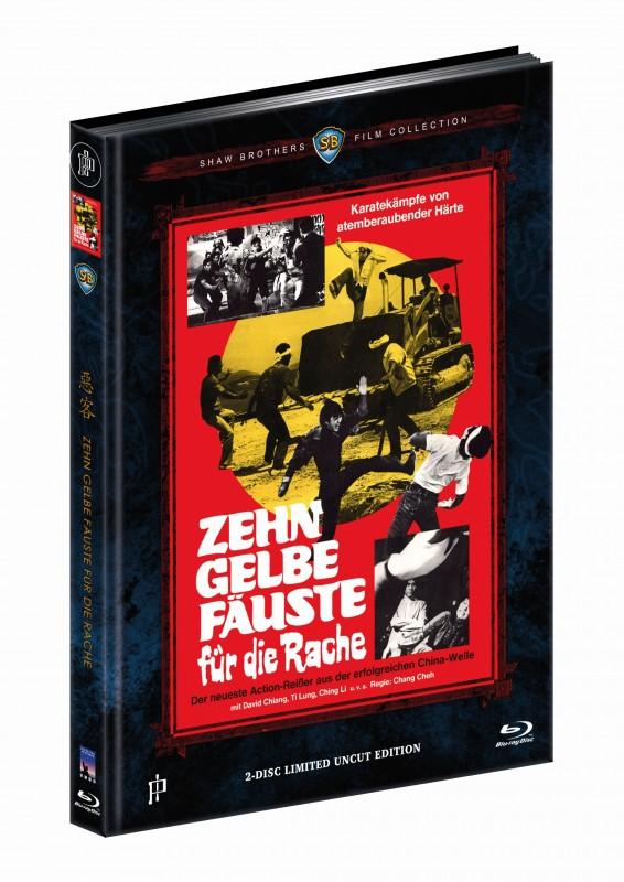 Zehn gelbe Fäuste für die Rache - DVD/BD Mediabook C 222OVP