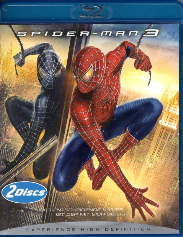 SPIDER-MAN 3 2x Blu-ray - Tobey Maguire Sam Raimi Marvel