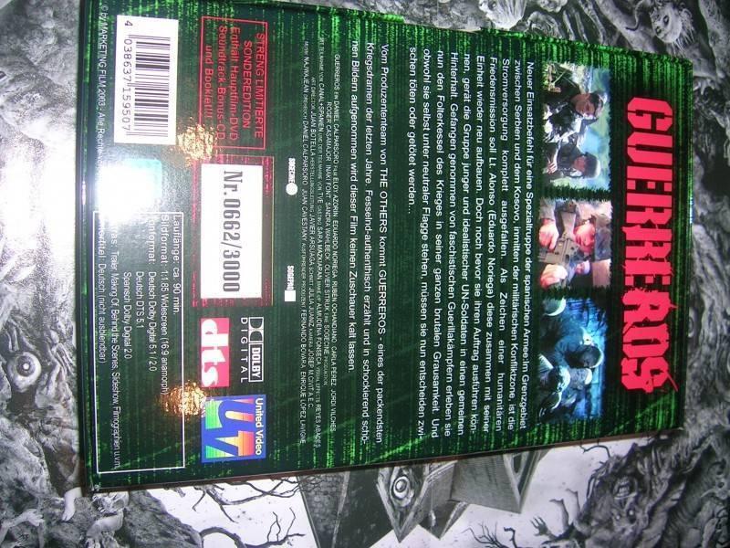 WAR OF TEARS LIMITED 2DISC SCHMUCKBOX DVD NEU OOP