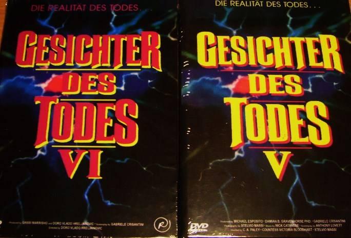 GESICHTER DES TODES-KOMPLETTE SAMMLUNG DVD-COVER A RETROFILM