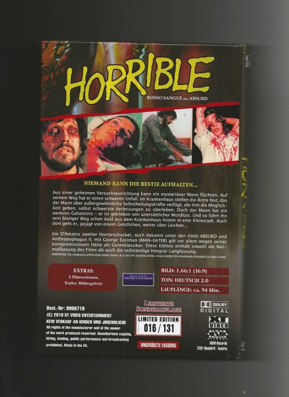 HORRIBLE (ABSURD) + XT VIDEO + COVER B + Nr. 016 / 131