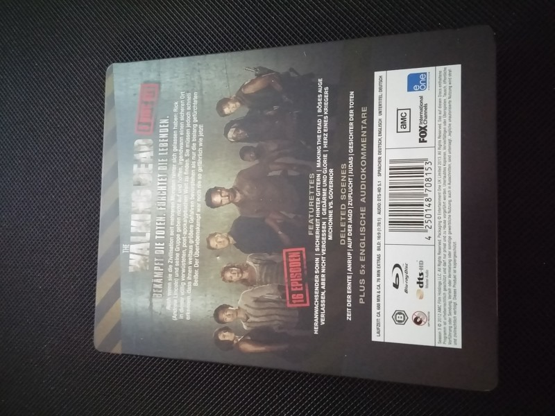 The Walking Dead -3 Staffel  -Blu Ray Steelbook -Top!