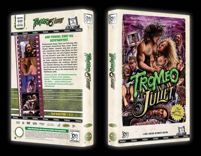 Tromeo and Juliet - gr DVD/Blu-ray Hartbox A Lim 111 OVP