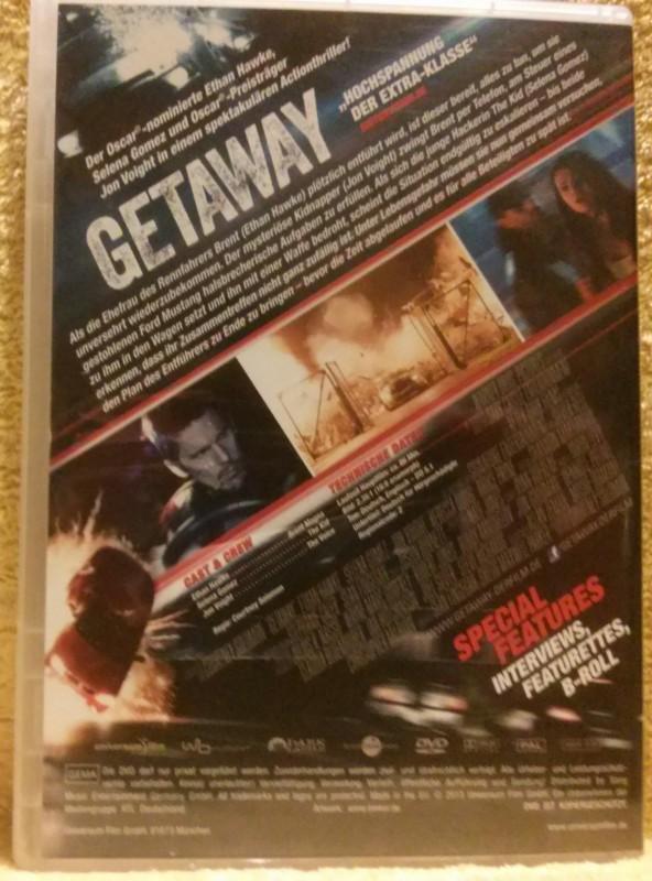Getaway Ethan Hawke/Selena Gomez DVD Erstausgabe (A)