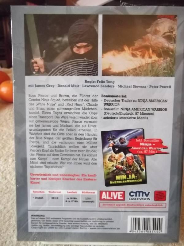 NINJA EXTREME WEAPONS + BONUSFILM UNCUT DVD HARTBOX  NEU