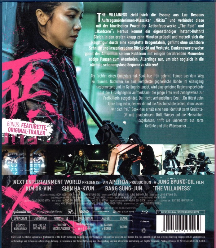 THE VILLAINESS Blu-ray - super Asia Auftragskillerin Action