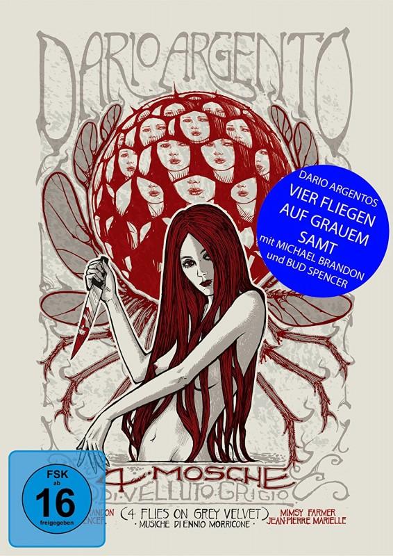 Mediabook DVD Blu-ray Vier Fliegen auf grauem Samt Argento