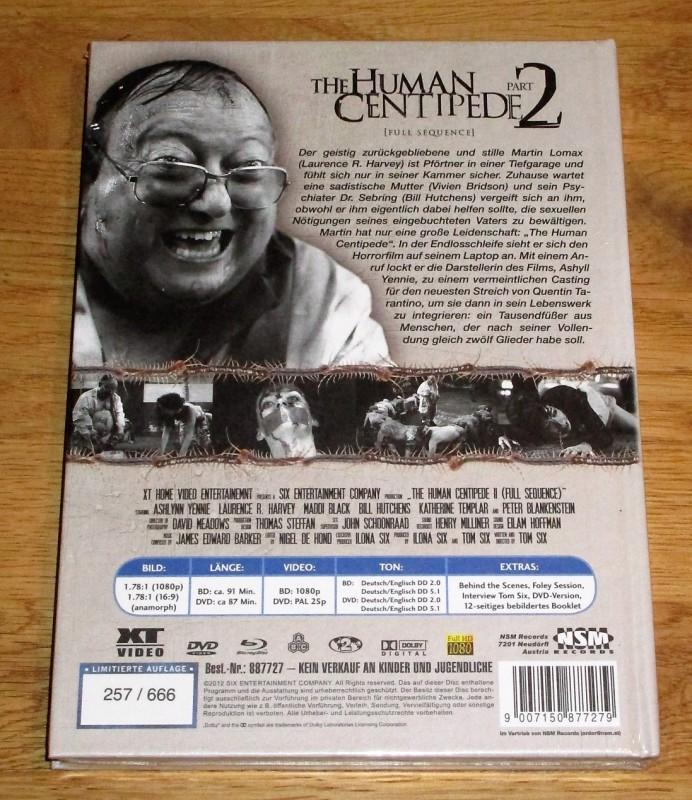 The Human Centipede 2 – Mediabook – Cover B  - UNCUT - NEU!