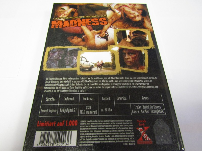 Madness DVD Hardcoverbox Unrated Version limitiert 1000 Stüc