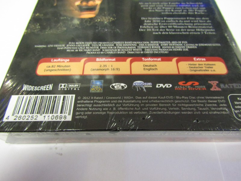 Puppet Master Axis of Evil DVD Hardcoverbox Neu limited Nr52