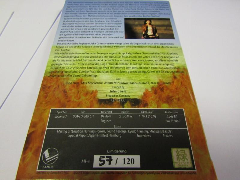 Schoolgirl Apocalypse DVD Limitiert 120! Nr57 Hardcoverbox