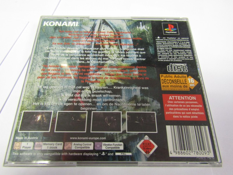 Nightmare Creatures 2 PS1 komplett OVP Playstation 1 Sammler