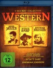 WESTERN 3x Blu-ray - Jesse James Wyatt Earp Jeremiah Johnson