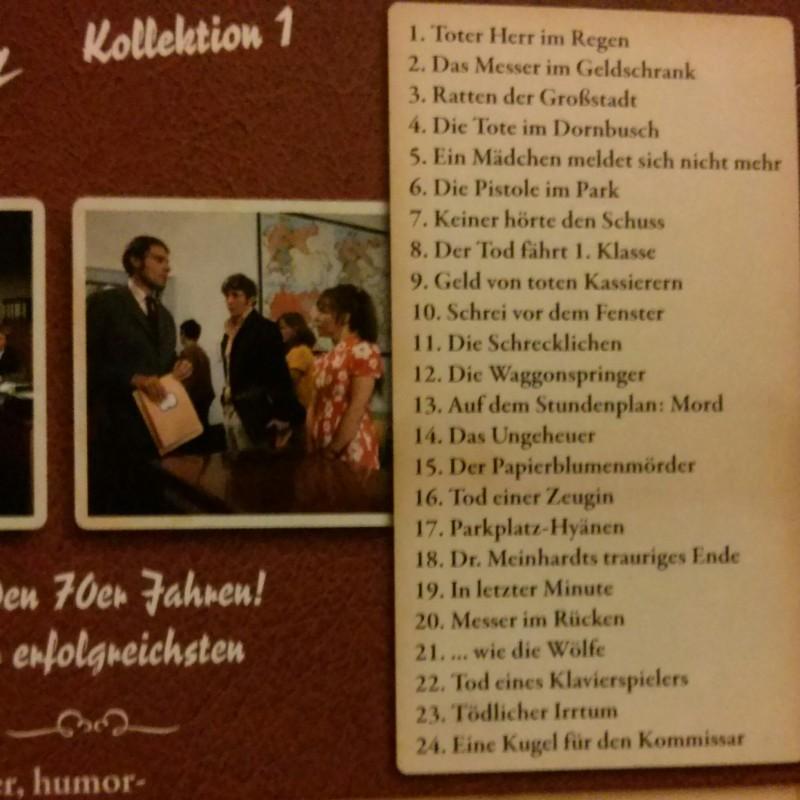 Der Kommissar Kollektion 1 Dvd-Schuber mit 24 Folgen