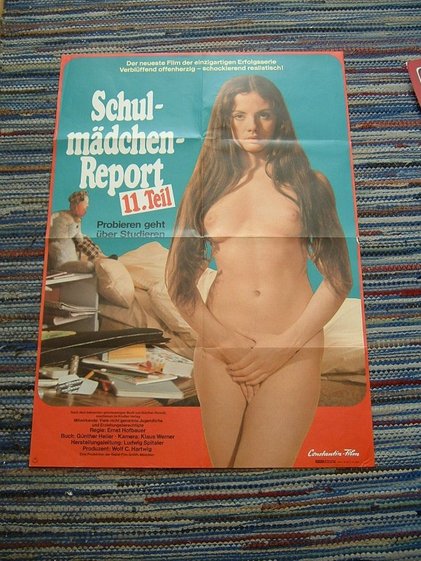 Erotik Poster: Schulmädchen Report 11.Teil (selten)