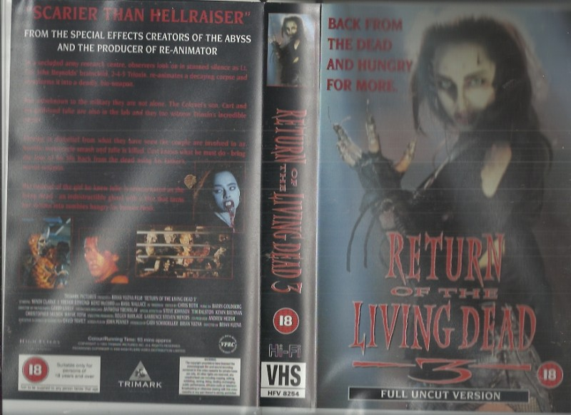 VHS Return of the Living Dead 3 (GB-Version,Englisch, Uncut)