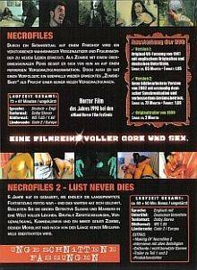2 DVDs: THE NECRO FILES 1+2, Digipack, UNCUT ! NEU + OVP !