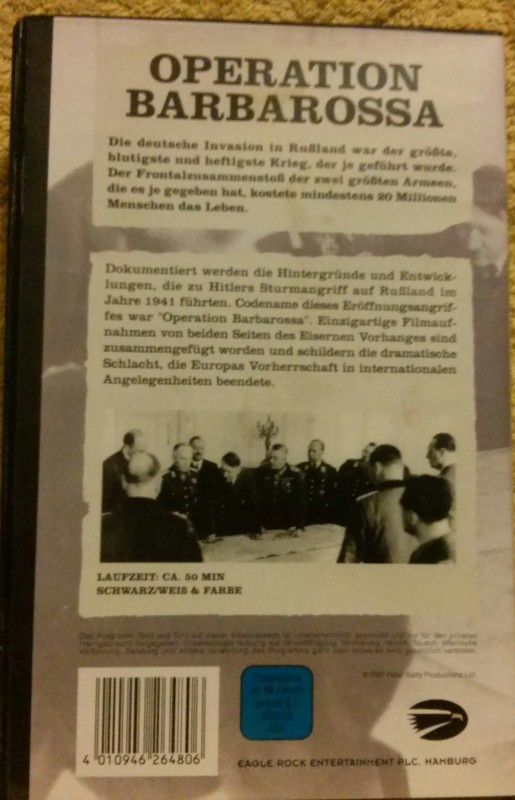 Der Zweite Weltkrieg Operation Barbarossa VHS (E41)