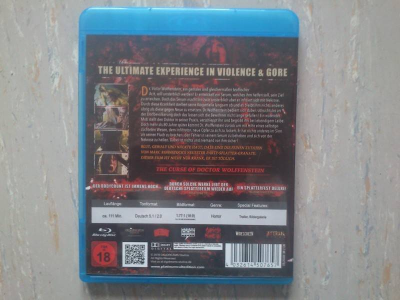 THE CURSE OF DOCTOR WOLFFENSTEIN- BLU RAY