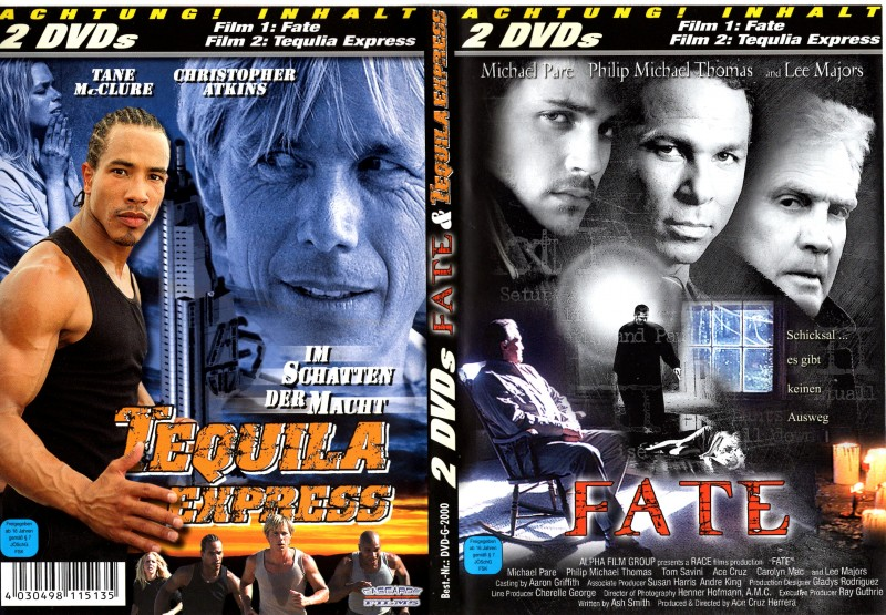 FATE + TEQUILLA EXPRESS 2 DVDs Michael Pare Chr.Atkins