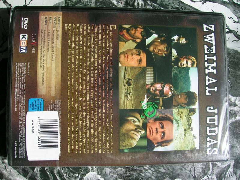 ZWEIMAL JUDAS KLAUS KINSKI WESTERN DVD EDITION NEU OVP