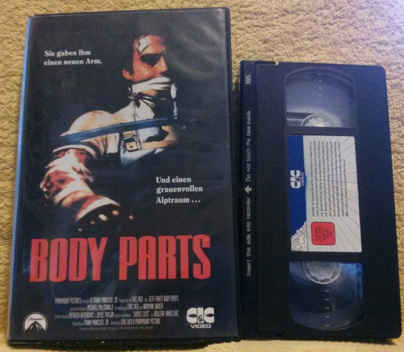 Body Parts CIC Video VHS Kultfilm Uncut NoDvd!!