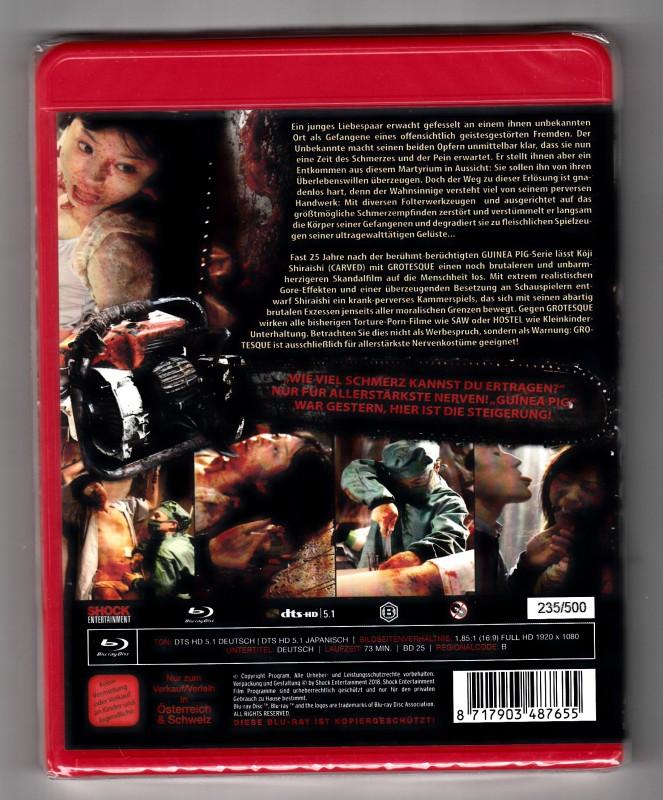 Grotesque - Blu Ray - Uncut - Collectors Edition