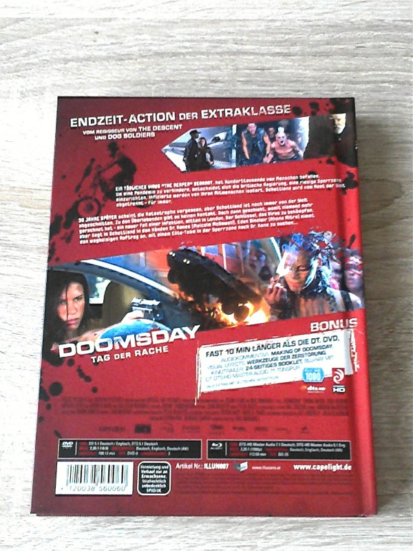 DOOMSDAY - TAG DER RACHE - LIM.MEDIABOOK - UNRATED