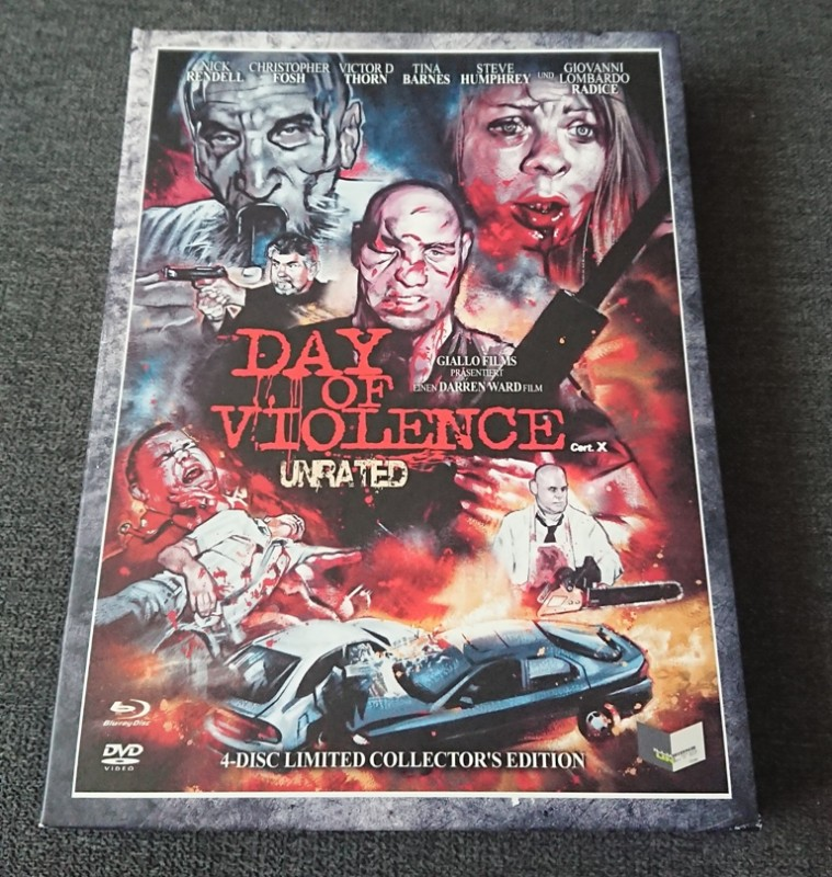 DAY OF VIOLENCE - Digipak - UNRATED! - 4 Disc Lim.Coll.Edit.