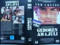 Geboren am 4. Juli ... Tom Cruise  ...  VHS  !!