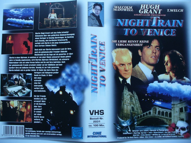 Night Train to Venice ... Hugh Grant, T. Welch ...  VHS !!