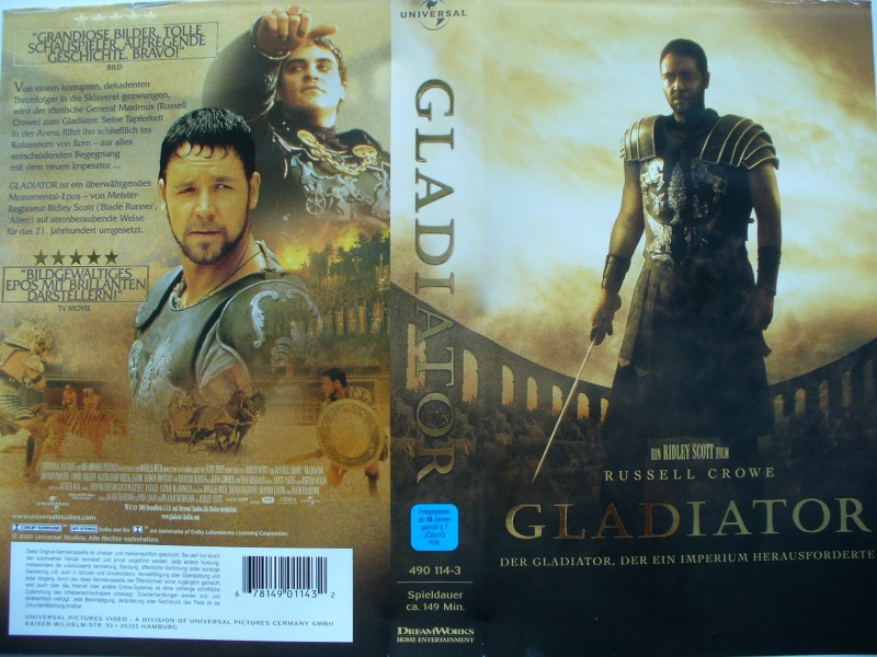Gladiator ... Russell Crowe ...  VHS !!