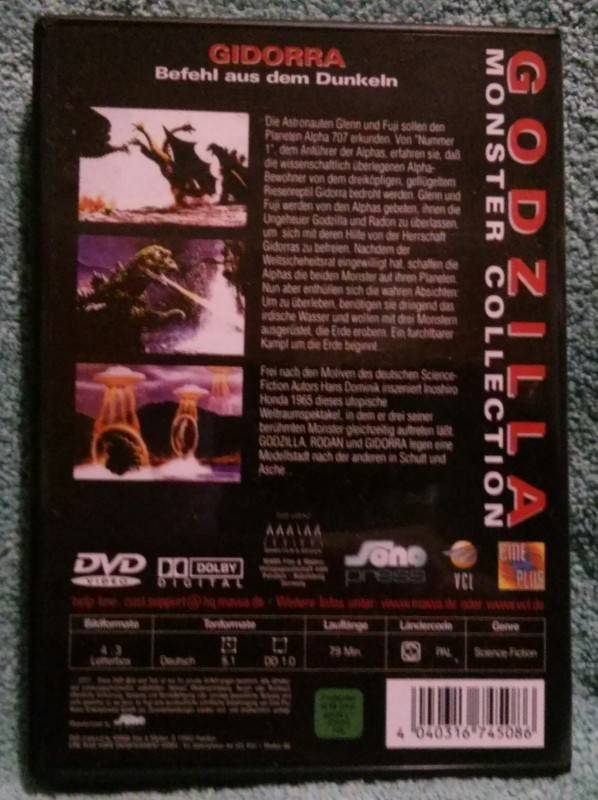 Godzilla Gidorra Befehl aus dem Dunkeln (S) Dvd