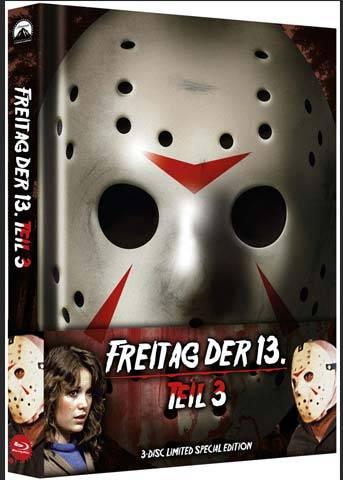 FREITAG DER 13. - Teil 03 (Blu-Ray+DVD) (3Discs) - Mediabook