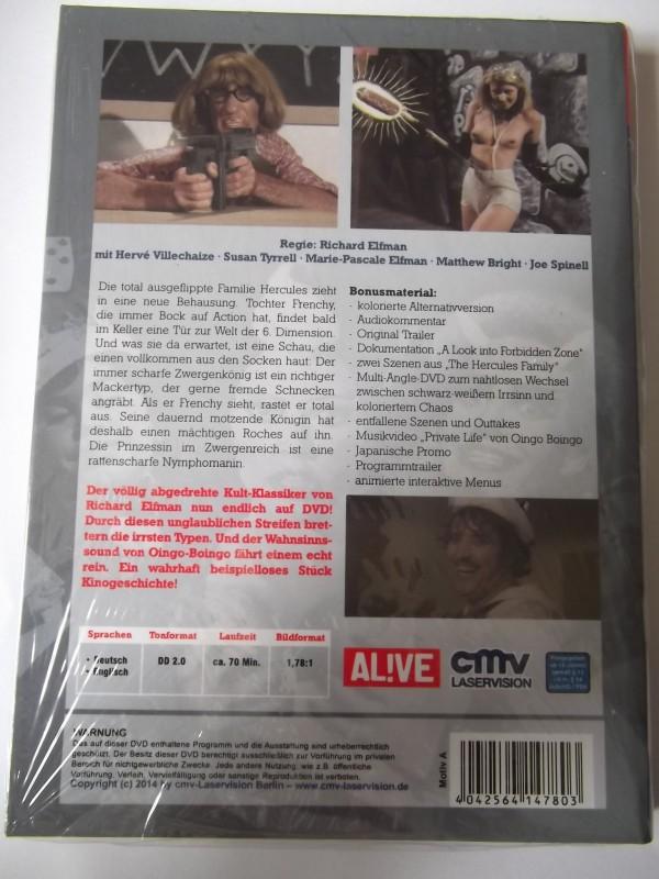 FORBIDDEN ZONE UNCUT DVD HARTBOX COVER : A  NEU / OVP