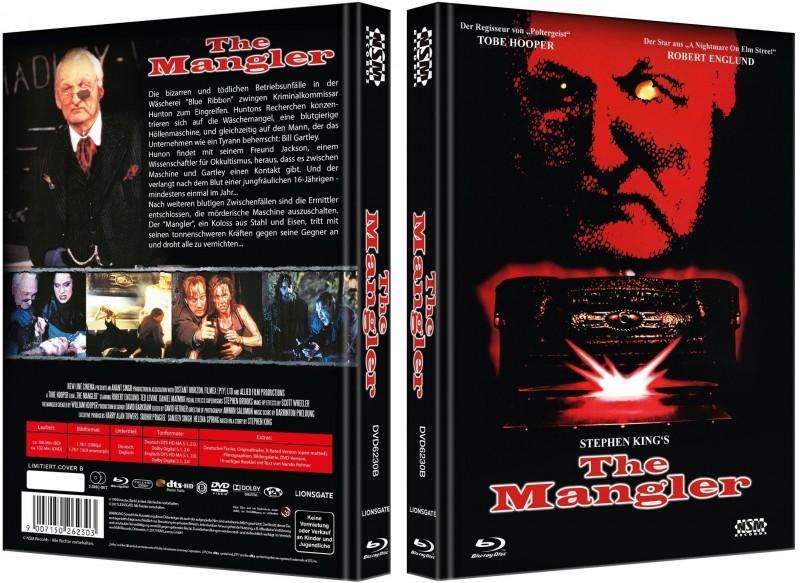 The Mangler - Mediabook B (Blu Ray+DVD) NEU/OVP