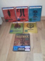 12 Bluray Steelbooks + Extra