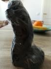 Leicht gebogener Analdildo Analplug Dildo 18 cm schwarz
