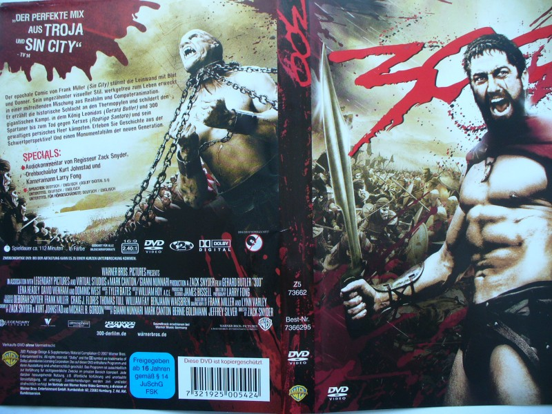 300 ... Lena Headey, David Wenham, Dominic West ...  DVD !!!
