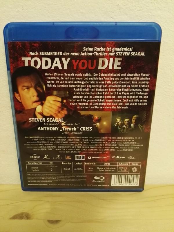 "TODAY YOU DIE ""Uncut"" BLU RAY Steven Seagal NEU"