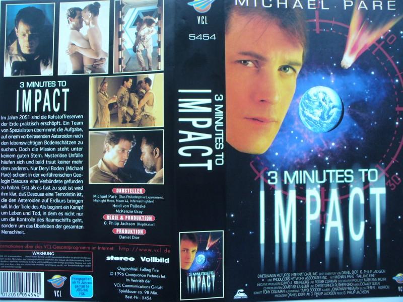 3 Minutes to Impact ... Michael Paré   ...  VHS