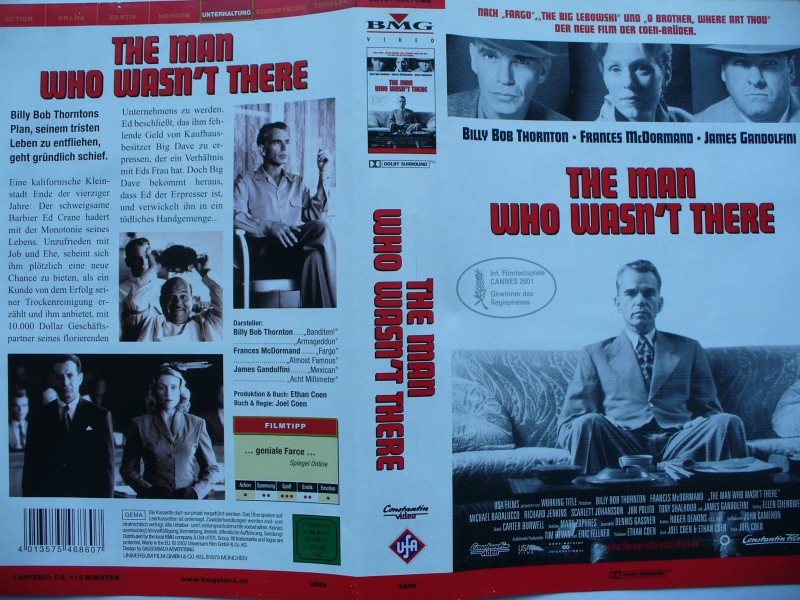The Man Who Wasn´t There ... Billy Bob Thornton   ...  VHS